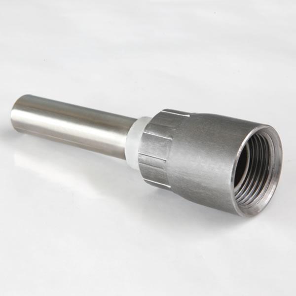 RACCORDI CON TUBO INOX E INSERTO IN PLASTICA